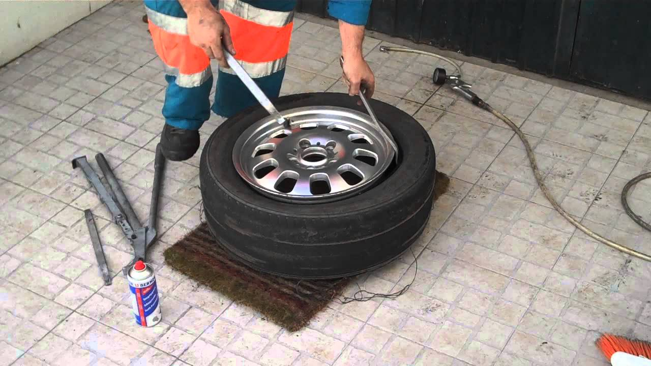 how to put a tire on a rim
